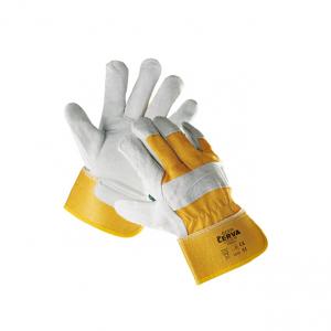cerva eider kombinált védőkesztyű sárga